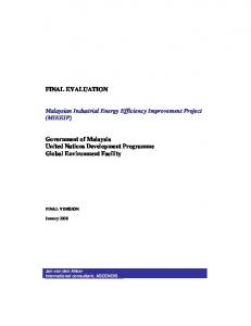 Malaysian Industrial Energy Efficiency Improvement Project (MIEEIP)