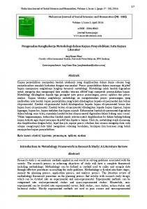 Malaysian Journal of Social Sciences and Humanities, Volume 1, Issue 1, (page 17-24), 2016
