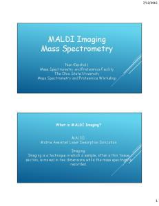 MALDI Imaging Mass Spectrometry