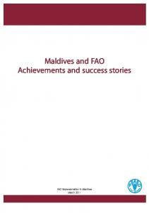 Maldives and FAO Achievements and success stories
