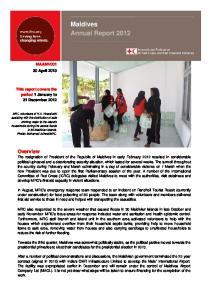 Maldives Annual Report 2012