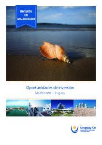 MALDONADO. Oportunidades de inversión. Maldonado - Uruguay