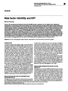 Male factor infertility and ART