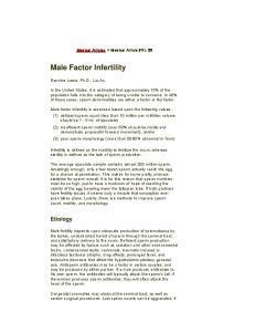 Male Factor Infertility