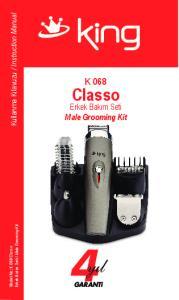 Male Grooming Kit. Model No: K 068 Classo