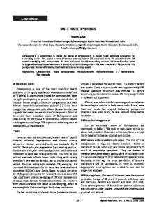 MALE OSTEOPOROSIS. Vivek Arya