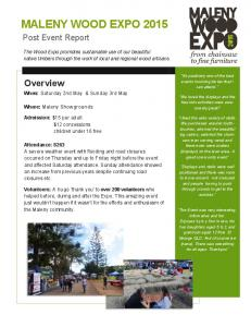 MALENY WOOD EXPO 2015