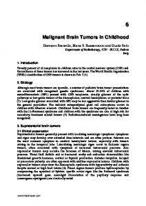 Malignant Brain Tumors in Childhood