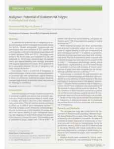Malignant Potential of Endometrial Polyps: A retrospective study