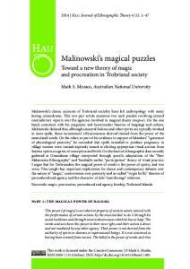 Malinowski s magical puzzles