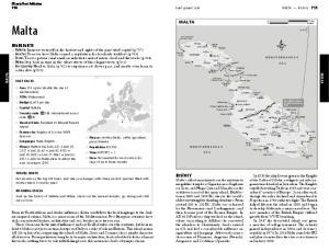 Malta MALTA. Lonely Planet Publications MALTA MALTA FAST FACTS TRAVEL HINTS ROAMING MALTA