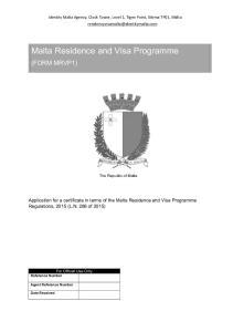Malta Residence and Visa Programme