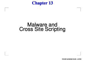 Malware and Cross Site Scripting