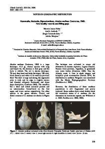 Mammalia, Rodentia, Sigmodontinae, Akodon molinae Contreras, 1968: New locality records and filling gaps