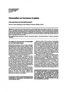 Mammalian sex hormones in plants