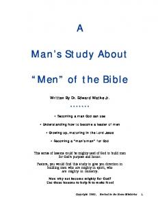Man s Study About. Men of the Bible
