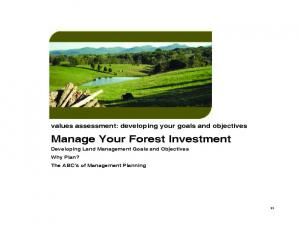 Manage Your Forest Investment