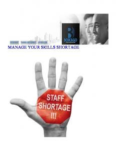 MANAGE YOUR SKILLS SHORTAGE