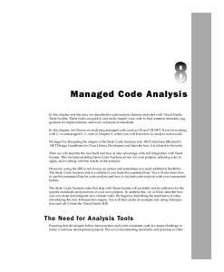 Managed Code Analysis