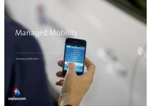 Managed Mobility. Company profile 2014
