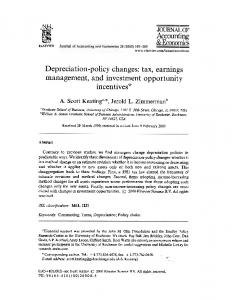 management, and Investment opportunit:y incentives*