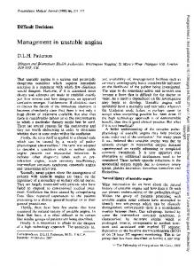 Management in unstable angina