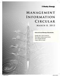 Management Information Circular