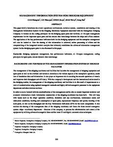 MANAGEMENT INFORMATION SYSTEM FOR DREDGER EQUIPMENT
