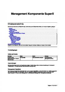 Management Komponente SuperX