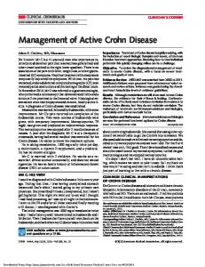 Management of Active Crohn Disease