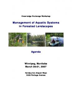 Management of Aquatic Systems in Forested Landscapes