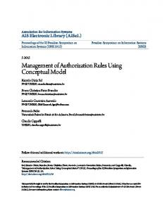 Management of Authorization Rules Using Conceptual Model
