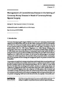 Management of Carotid Artery Disease in the Setting of Coronary Artery Disease in Need of Coronary Artery Bypass Surgery