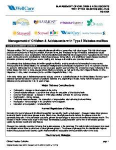 Management of Children & Adolescents with Type I Diabetes mellitus