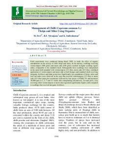 Management of Chilli (Capsicum annuum L.) Thrips and Mites Using Organics