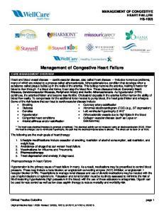 Management of Congestive Heart Failure