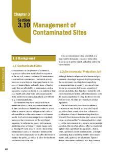 Management of Contaminated Sites