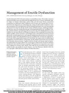 Management of Erectile Dysfunction