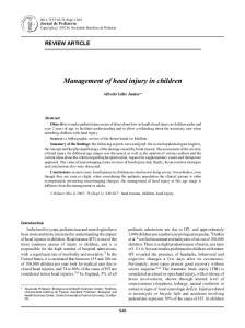 Management of head injury in children