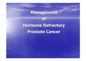 Management of Hormone Refractory Prostate Cancer