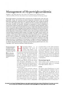 Management of Hypertriglyceridemia