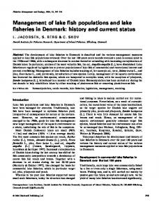 Management of lake fish populations and lake fisheries in Denmark: history and current status