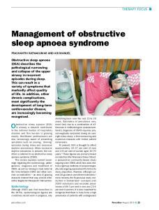 Management of obstructive sleep apnoea syndrome