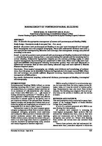 MANAGEMENT OF POSTMENOPAUSAL BLEEDING