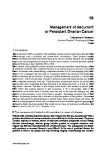 Management of Recurrent or Persistent Ovarian Cancer