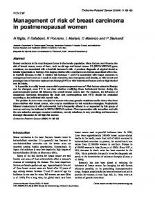 Management of risk of breast carcinoma in postmenopausal women