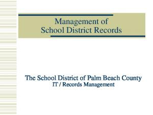 Management of School District Records