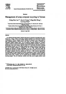 Management of scrap computer recycling in Taiwan
