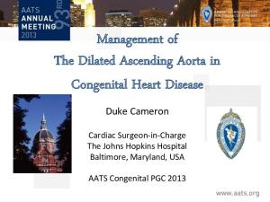 Management of The Dilated Ascending Aorta in Congenital Heart Disease