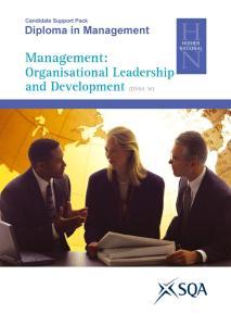 Management: Organisational Leadership and Development (DV8A 36)